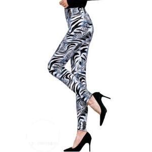 Zebra print high waist leggings one size